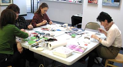 Origami beaded necklace workshop